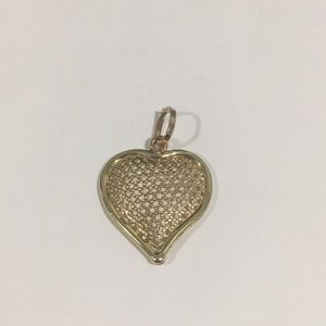 14k Yellow Gold Heart ❤️ Shape Pendant
